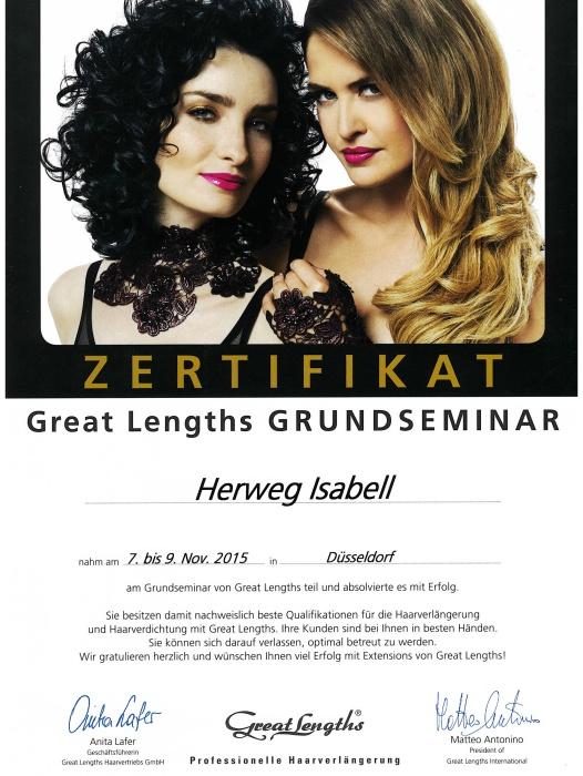 Haarverdichtung/Haarverlängerung bei Isabell Herweg - Janine Schmidt HAIR DESIGN