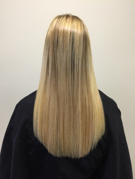 Haarverdichtung Great Lengths Leverkusen nachher