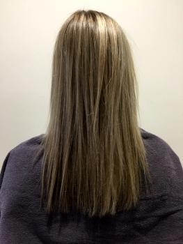 Haarverdichtung blond vorher