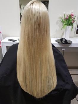 Haarverlängerung blond Ergebnis