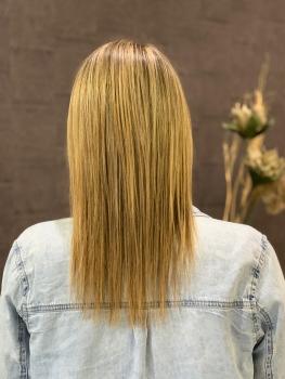 Haarverlängerung Monheim vorher