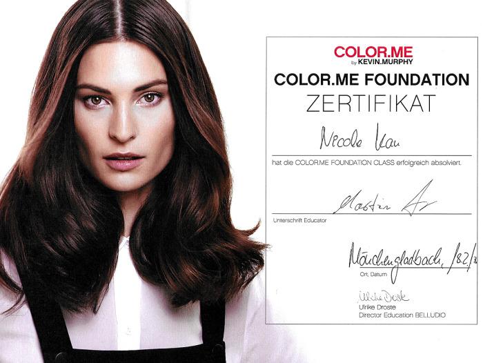 Nicole Kau Friseurin Zertifikat
